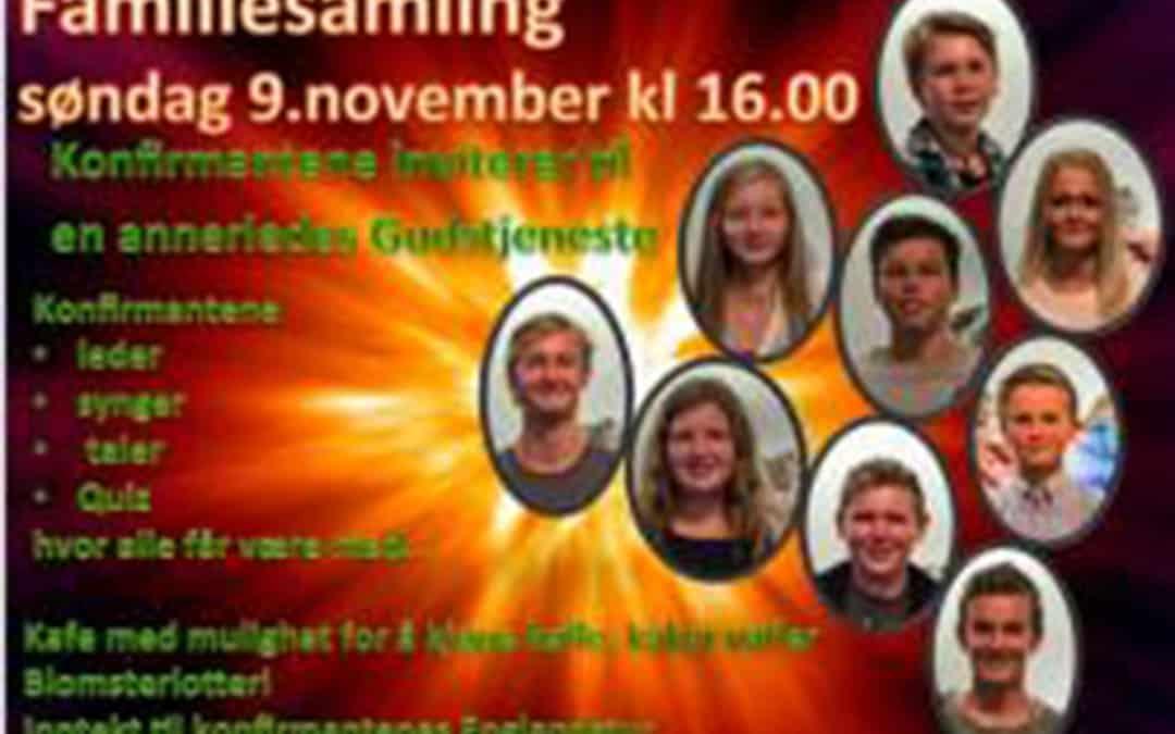 Velkommen til Festsamling søndag 9.november