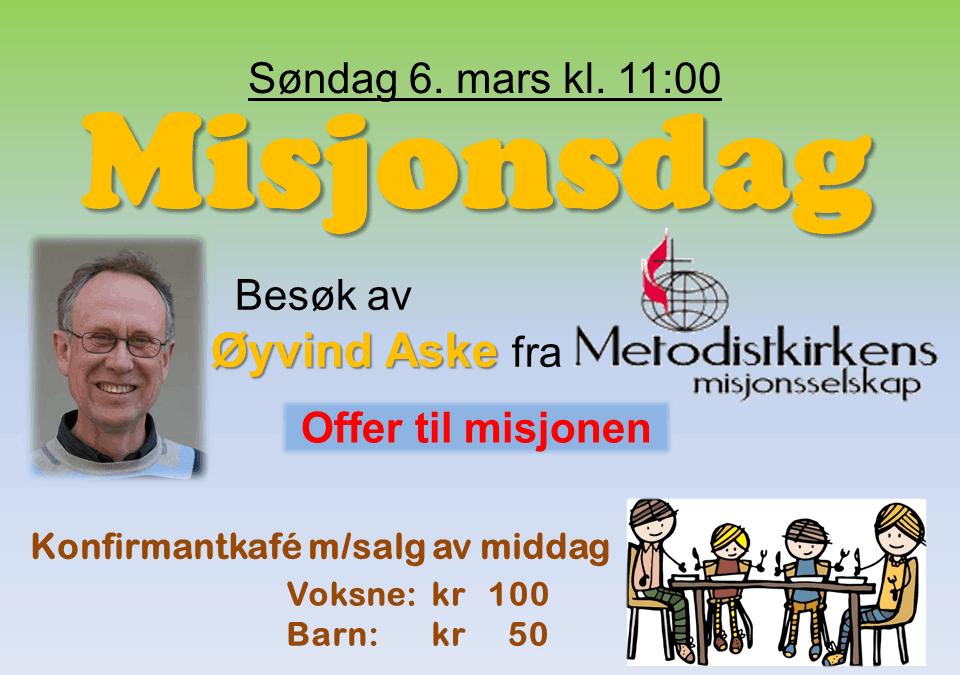 Velkommen til misjonsgudstjeneste!