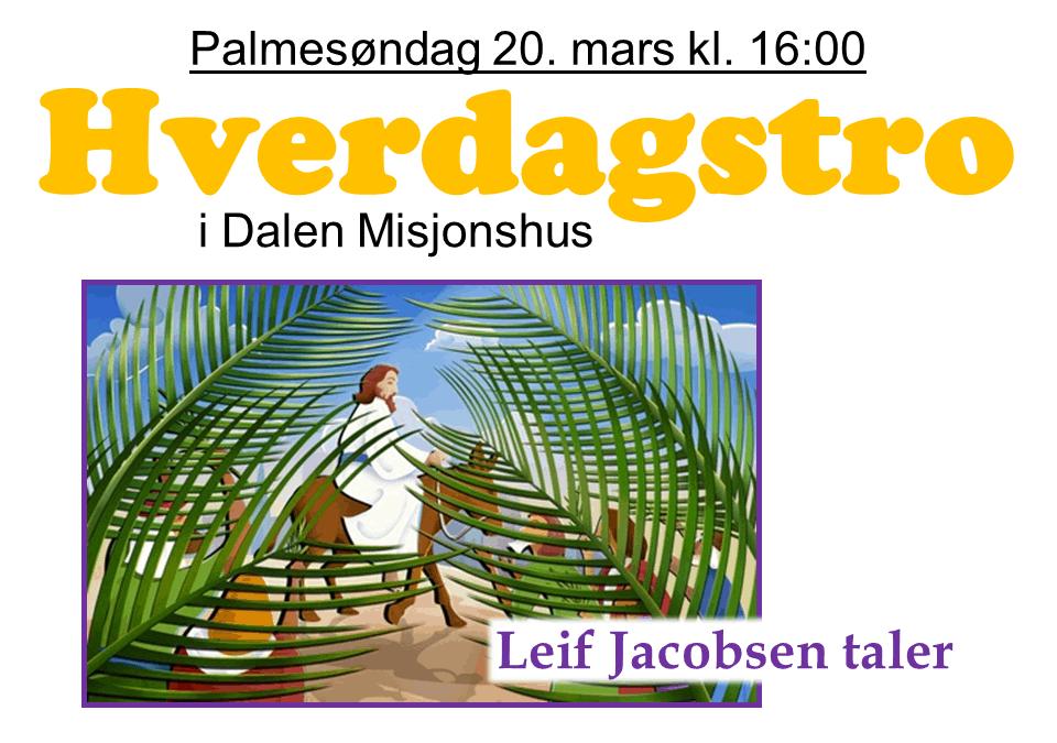 Velkommen til palmesøndagsgudstjeneste!