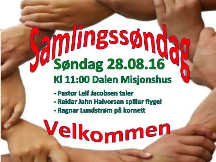 Samlingssøndag 28.08.2016