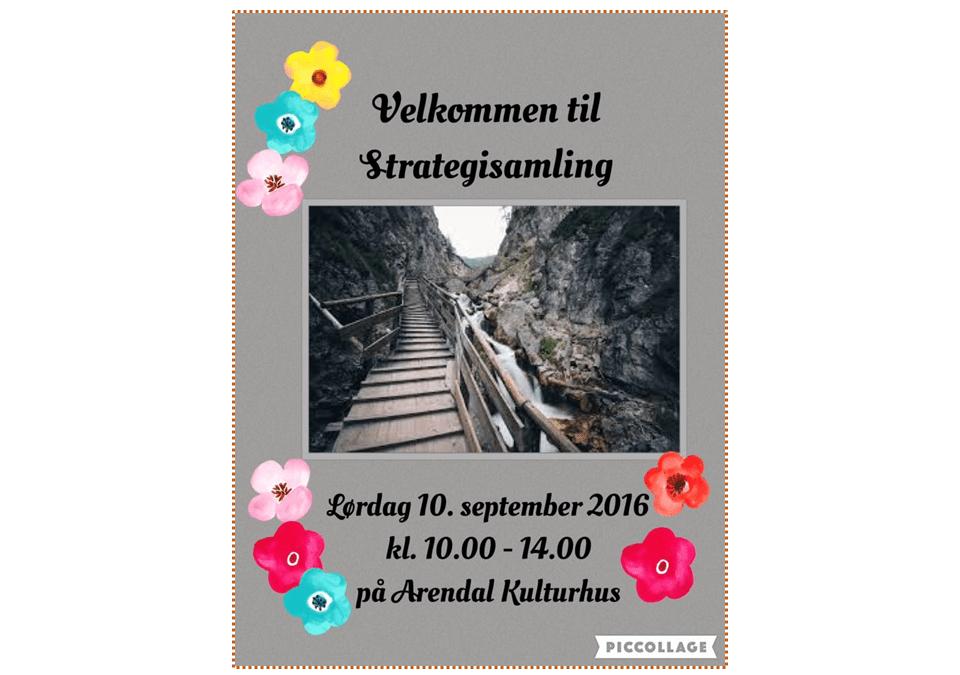 Strategisamlingen er flyttet til Arendal Kulturhus