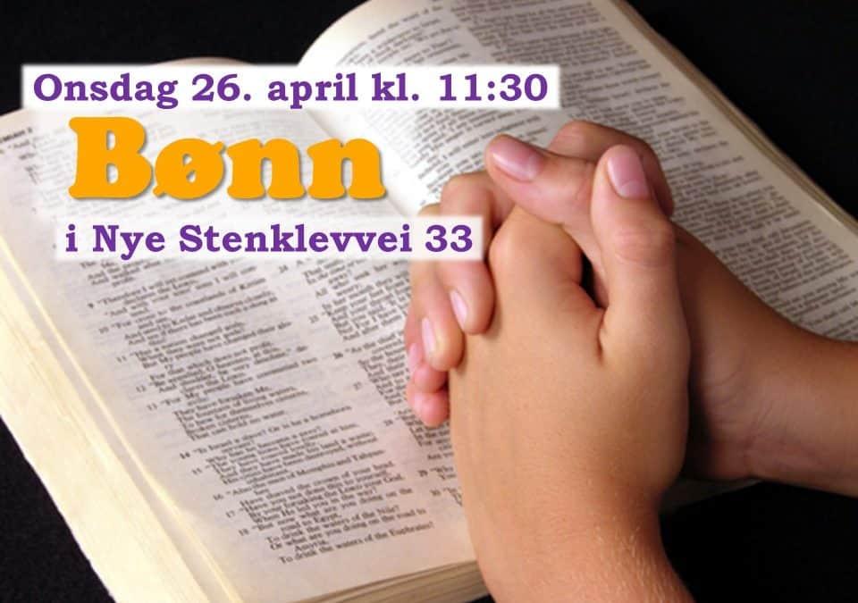 Velkommen til bønnesamling!