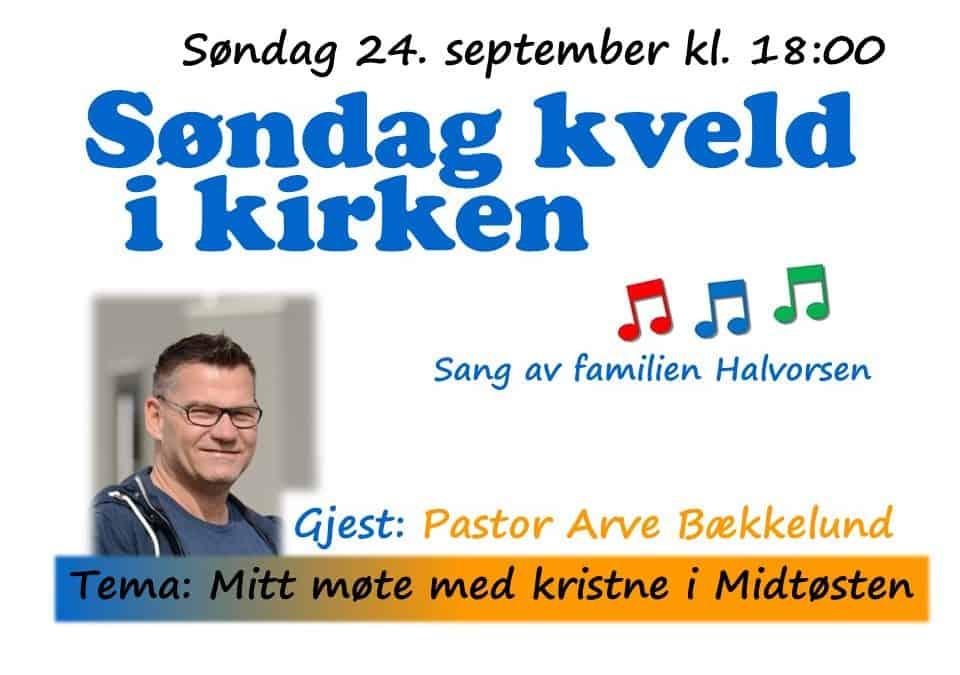 Velkommen til «Søndag kveld i kirken»!