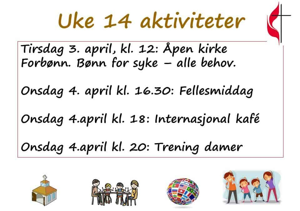 Aktiviteter uke 14