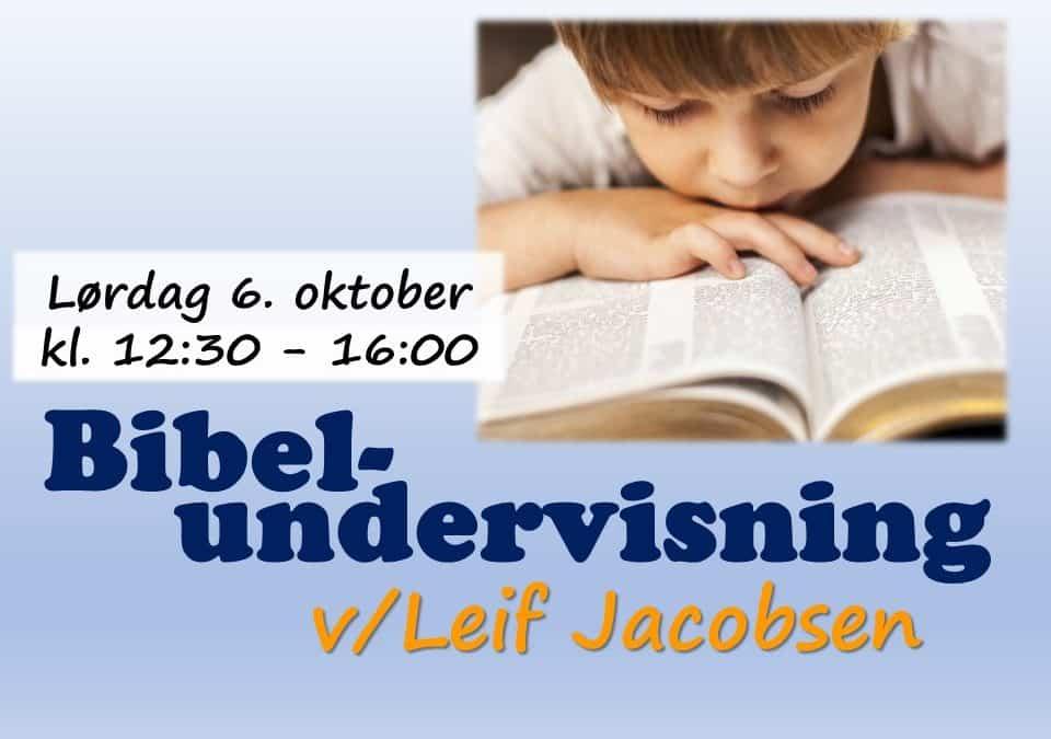 Spennende bibelundervisning til lørdag!