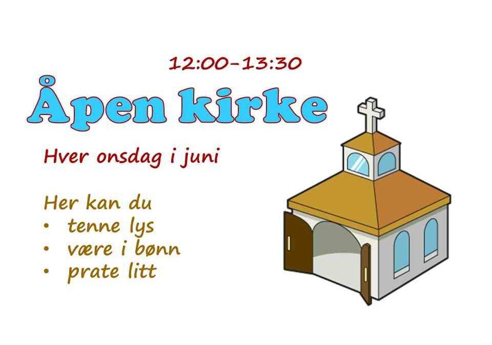 Åpen kirke hver onsdag i juni
